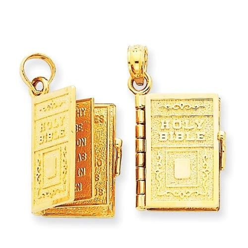 Holy Bible Charm with Move-able Pages (JC-071/JC-073)