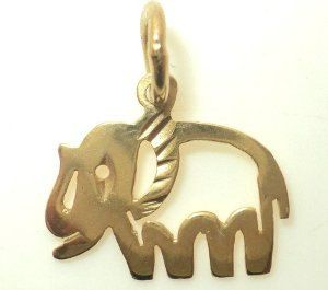 Diamond Cut Elephant Charm (JC-772)