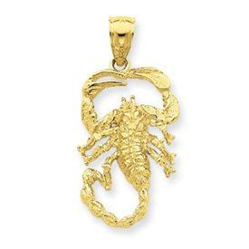 Open Backed Small Scorpion Pendant (JC-847)