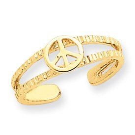 Peace Sign Toe Ring (JC-821)