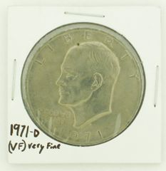 1971-D Eisenhower Dollar RATING: (VF) Very Fine N2-2511-30
