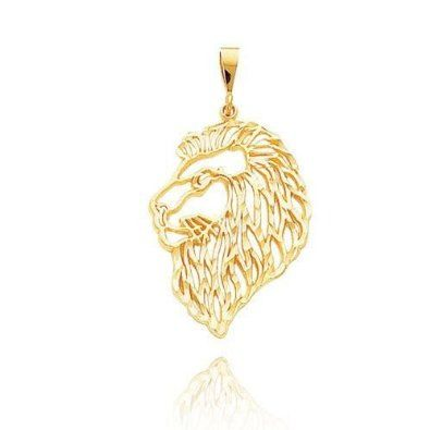 Filigree Lions Head Pendant (JC-843)