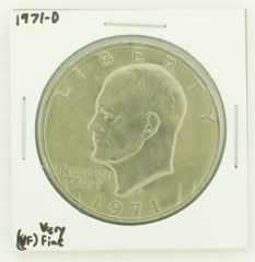 1971-D Eisenhower Dollar RATING: (VF) Very Fine N2-2511-24