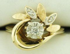 14K Yellow Gold Estate Diamond Ring
