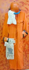 Arc Flash Suit Set with, 1 Bag, 1 Set of Gloves, 1 Body suit, 1 Head Sock, 1 Helmet