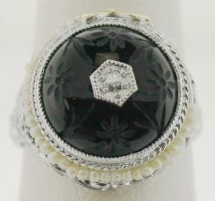 Antique Estate Diamond and Amethyst Ring