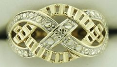 10K Yellow Gold Infinity Ring