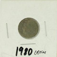 1980 United States Roosevelt Dime 90% Silver Rating : (F) Fine