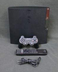 Sony PlayStation 3 Slim 120 GB Charcoal Black Console (NTSC - CECH-2001A) With 1 Controller and 1 DVD Remote