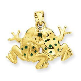 Enameled Frogs Pendant (JC-103)