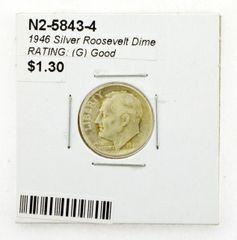 1946 Silver Roosevelt Dime RATING: (G) Good (N2-5843-4)