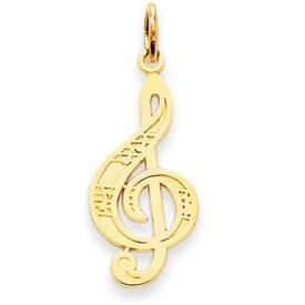 Music Note Treble Clef Charm (JC-754)