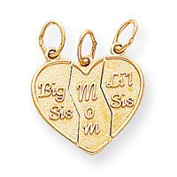 Break Apart Big Sis, Mom, Lil Sis Charm (JC-088)