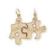 Large Best Friends Puzzle Pieces Break-apart Pendant (JC-042)