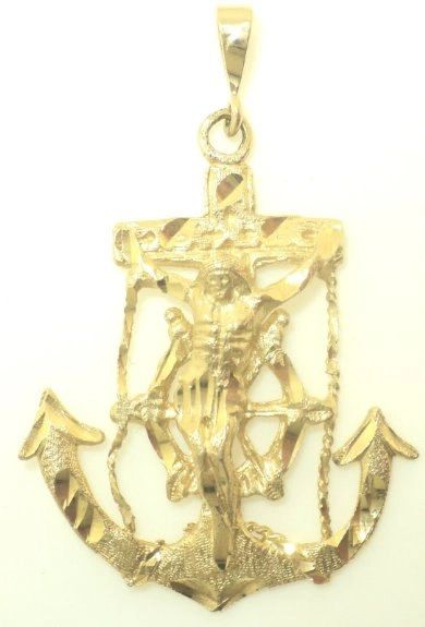 Large Anchor Crucifix Pendant (JC-1042)