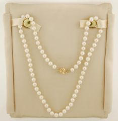 "18"" 5.5 - 6.0 mm Cultured Saltwater Pearl Strand Necklace with 14K Gold Clasp"