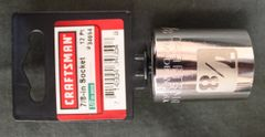 "CRAFTSMAN 1/2"" Drive 7/8in Laser Etched/Easy Read Socket 12 point 34654"