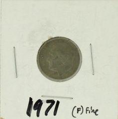 1971 United States Roosevelt Dime 90% Silver Rating : (F) Fine
