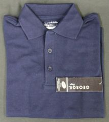 George Boys' Short Sleeve Polo Shirt Dark Navy Med