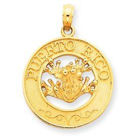 Puerto Rico with Frog Pendant (JC-649)