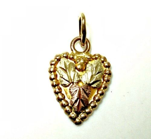 Heart with Three Leaves Charm (JC-1014)