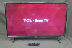 TCL 32-Inch 720p 60Hz Roku Smart LED HDTV with 3 x HDMI (2017 Model) 32S305