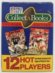 1990 Football Collect-A-Books Series 1 Complete ( 12 ) Card Set UNOPENED