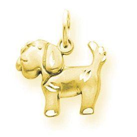 Satin & Diamond Cut Puppy Dog Charm (JC-906)