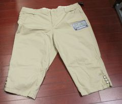 Women's Plus JMS Just My Size Tab Hem Capri Whipped Latte Size 24W