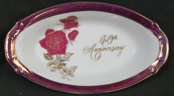 Norcrest 40th Anniversary Porcelain Collectble Plate