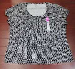 Women's Plus JMS Just My Size Knot Scoop Neck Tee Blouse Size 3X (22W/24W)