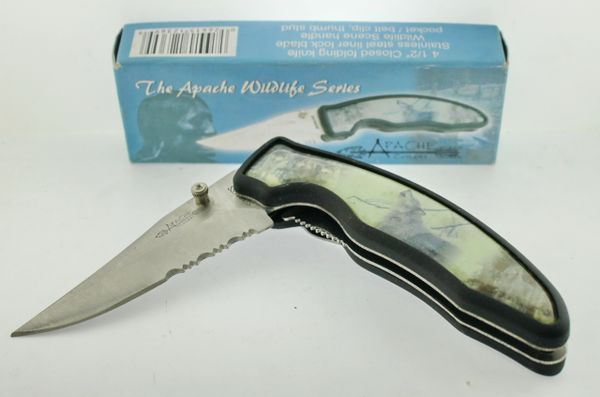 Apache Cutlery The Apache Wildlife Series TA455WOLF Knife