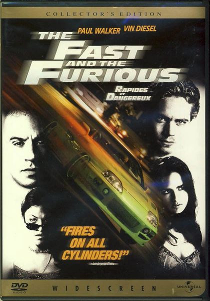 The Fast And The Furious (2002 DVD Widescreen)