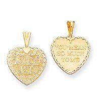 For My Wonderful Sister Heart Reversible Charm (JC-980)
