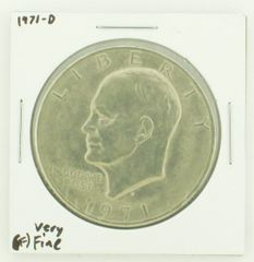 1971-D Eisenhower Dollar RATING: (VF) Very Fine N2-2511-23