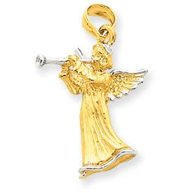 Angel with Flute Pendant (JC-016)