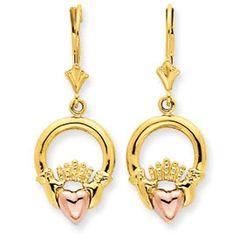 Claddagh Leverback Earrings (JC-859)