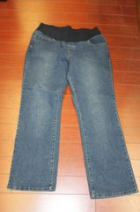 Women's Planet Moderhood Maternity Basic Bootcut Jeans Med Wash Size L(12/14)