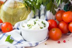 Roasted Garlic & Feta Spread with Lemon Zest