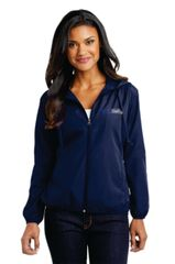 Ladies Navy Hooded Essential Jacket