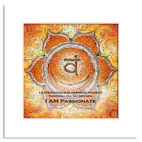 Traditional Yoga Energy Art 2nd Chakra Sacral Chakra