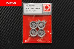 "1/25 1967 GT500 15"" Wheels Set"