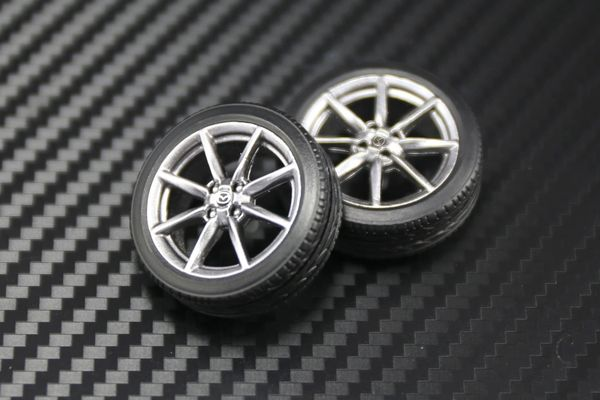 "1/24 2016 MX-5 17"" Wheels and Tires Set"