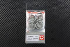 "1/24 GT (Cross-spoke) F19"" R20"" Wheels & Tires set"