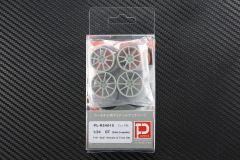 "1/24 GT (Twin 5-spoke) F19"" R20"" Wheels & Tires set"
