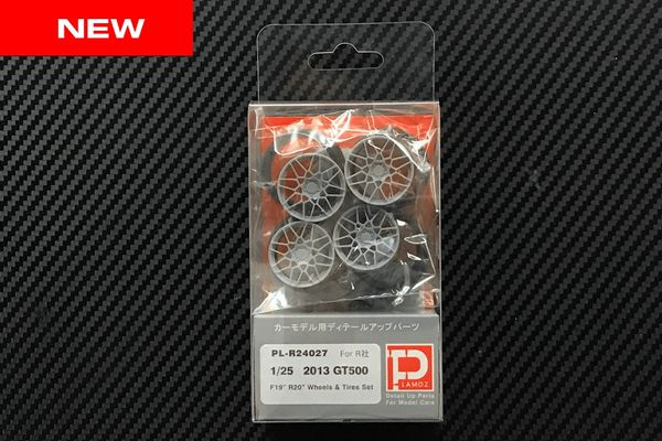 "1/25 2013 GT500 F19"" R20"" Wheels and Tires Set"