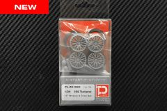 "1/24 595 Turismo 17"" Wheels and Tires Set"