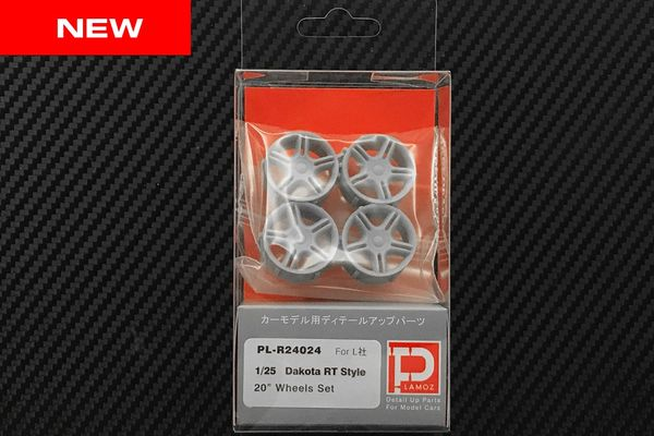 "1/25 Dakota RT Style 20"" Wheels Set ( On-line Store Limited Edition)"