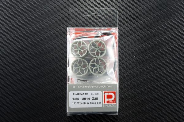 "1/25 2014 Z28 19"" Wheels and Tires Set"