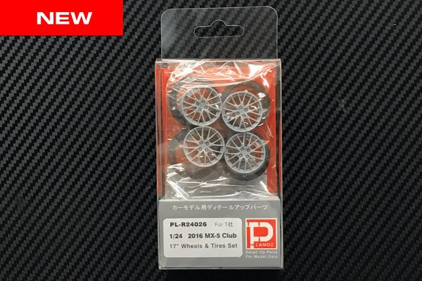 "1/24 2016 MX-5 Club Edition 17"" Wheels and Tires Set"